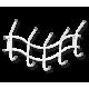 Вешалка Волна 2 навесная, металлическая белая
