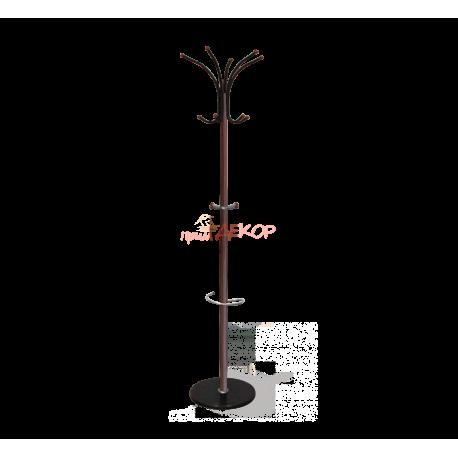Вешалка напольная SHT-CR9 темный орех/мрамор металл/мраморное осн