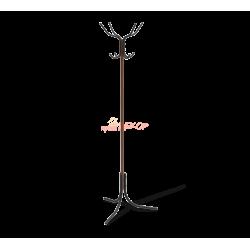 Вешалка вертикальная 14232WD черный/темный орех металл/пластик
