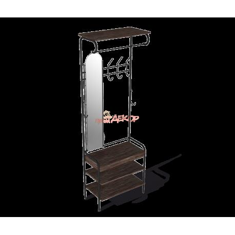 Компакт-прихожая с зеркалом M-3026 венге/черный металл/ЛДСП