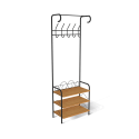 Мини-прихожая M-306 черный муар/бук металл/ЛДСП