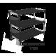 Полка для обуви металл+ ткань SHT-SR7