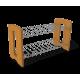 Полка для обуви МДФ ольха + металл SHT-0606-2