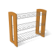 Полка для обуви МДФ ольха + металл SHT-0606-3