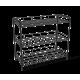 Полка для обуви металл/черный SHT-639