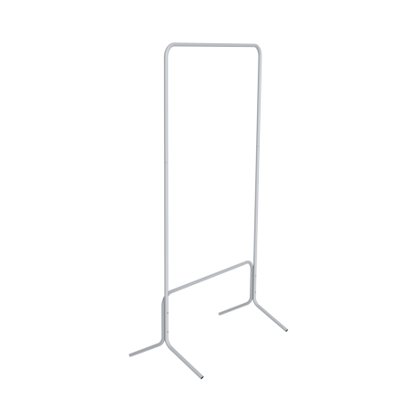 Вешалка гардеробная SHT-WR4040 серый-черн металл-пластик