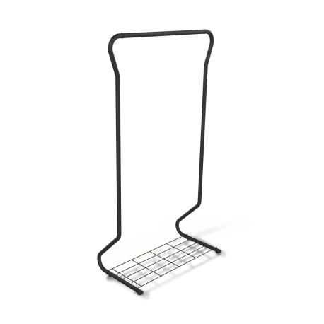 Вешалка гардеробная SHT-WR565 черный муар-серый металл-пластик