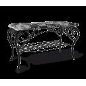 Банкетка Грация черный-Зарина металл-гобелен