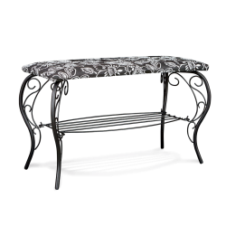 Банкетка Грация 685 черный-Зарина металл-гобелен