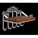 Полка Грация 669, металл, черный, орех