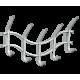 Вешалка Волна 2 навесная, металлическая серая