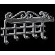 Вешалка Грация 2/5, металлическая черная