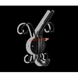 Вешалка-крючек Грация 760, металлическая черная