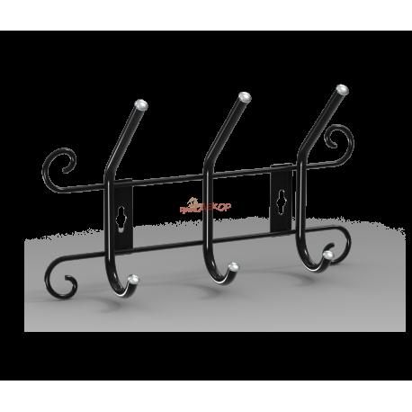 Вешалка Грация 770, металлическая черная