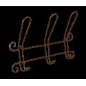 Вешалка Грация 770-2 коричневый муар металл