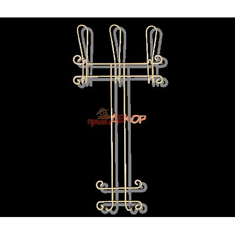 Вешалка Грация 780-2 навесная, металл цвет ваниль