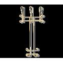 Вешалка Грация 780-2 навесная, металл белая