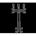 Вешалка Грация 780-2 навесная, металл черная