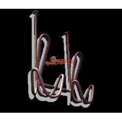 Вешалка Дор1 наддверная медный антик металл