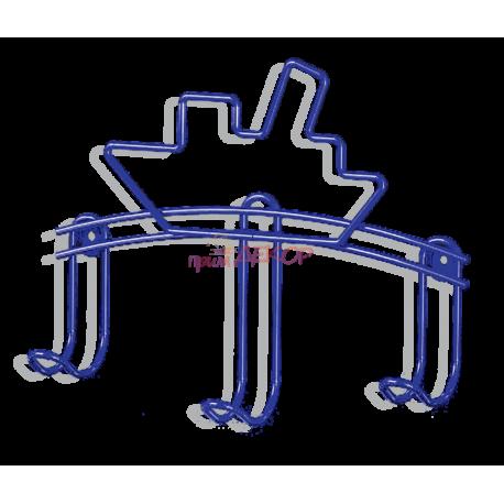 Вешалка Кораблик-3 металлическая, синяя
