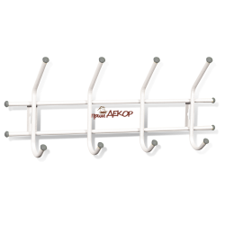 Вешалка Стандарт 1/4 белый/серый металл/пластик