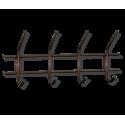 Вешалка Стандарт 1/4 медный/черный металл/пластик