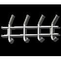 Вешалка Стандарт 1/4 серебро перлато/серый металл/пластик
