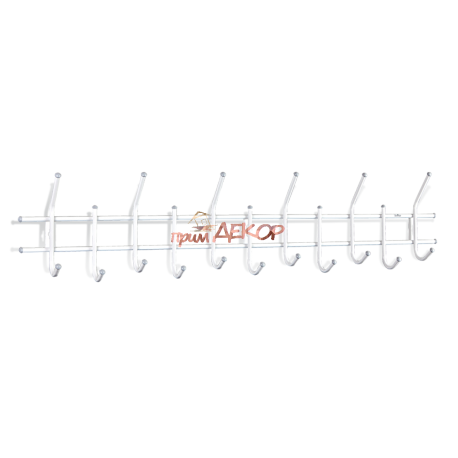 Вешалка Стандарт 2/11 белый/серый металл/пластик
