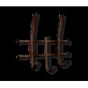 Вешалка Стандарт 2/3 медный/черный металл/пластик