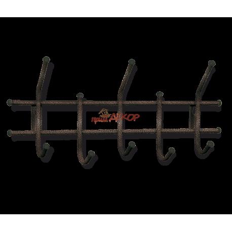Вешалка Стандарт 2/5 медный/черный металл/пластик