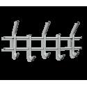 Вешалка Стандарт 2/5 серебро перлато/серый металл/пластик