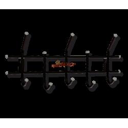 Вешалка Стандарт 2/5 черный/серый металл/пластик