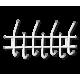 Вешалка Стандарт 2/7 белый/серый металл/пластик