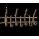 Вешалка Стандарт 2/7 бронза/черный металл/пластик