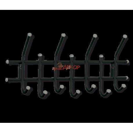 Вешалка Стандарт 2/7 черный/серый металл/пластик