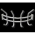 Вешалка навесная Угловая серебро перлато/серый металл/пластик