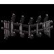 Вешалка металлическая Чайка, цвет черный