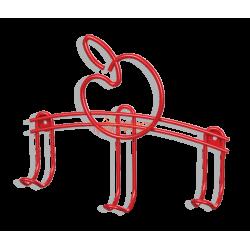 Вешалка Яблочки-3 в форме яблока, красная, металлическая